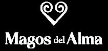 Logo Magos del Alma rectangular blanco png